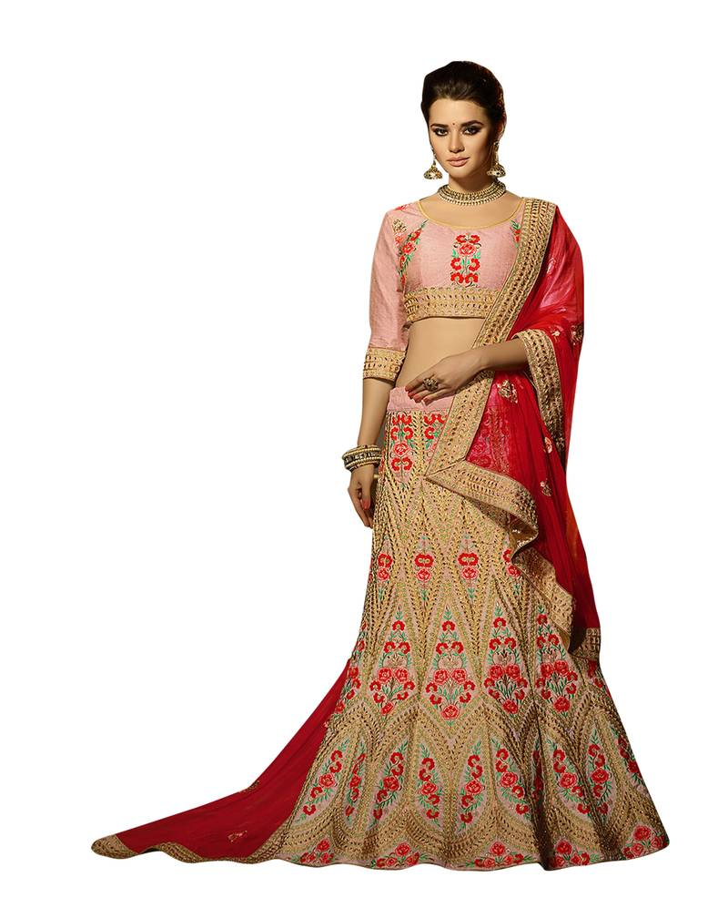 Color Block Lehenga