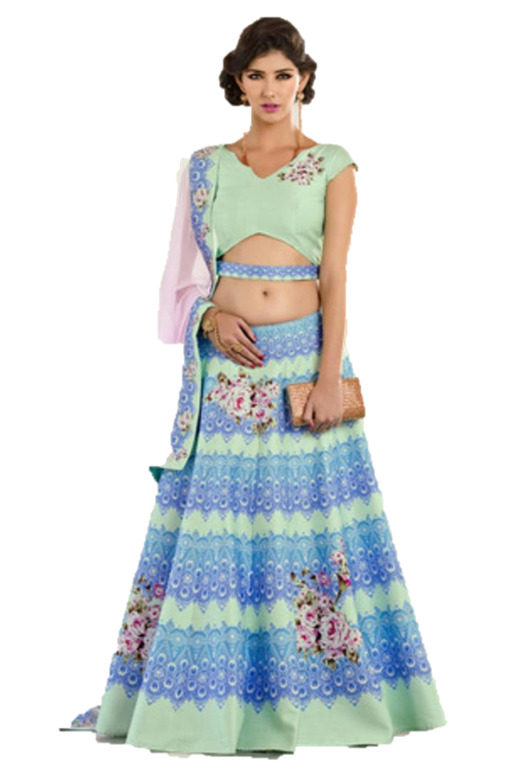 Lehenga with a Belt