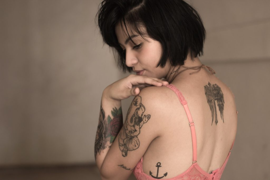 girl's Rib Tattoo Design