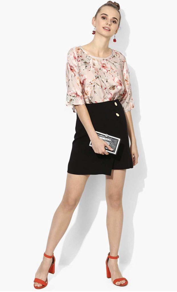 TNQ High Waist Cotton Short Skirts